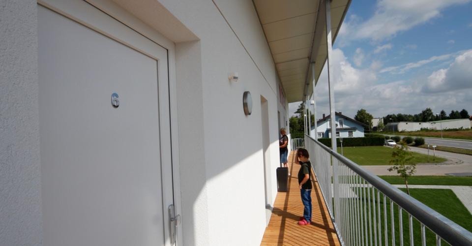 Zugang zu den Zimmer und Apartments im Motel